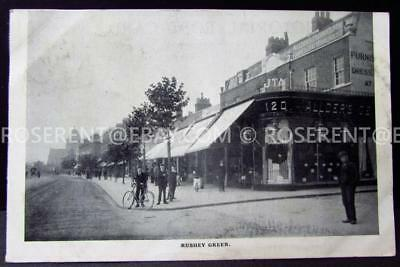 1905 Rushley Green - Shops with Awnings  - Lewisham- London - printed Postcard