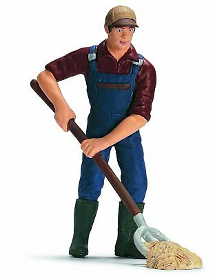 FARMER WITH PITCHFORK by Schleich; toy/ horse/ 13451/ RETIRED