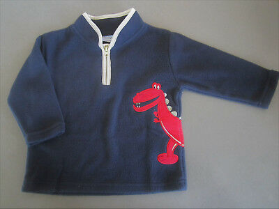 Warm polar fleece like material dinosaur JUMPER  size  1 - new