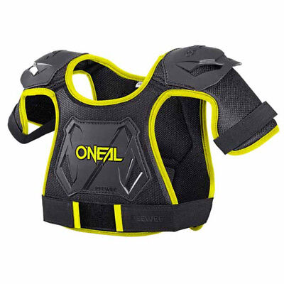 O'Neal Peewee Youth Chest Protector Black/Hi-Viz X-Small/Small
