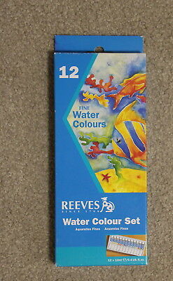 BRAND NEW Sealed Reeves Water Colour Set 12 x 12ml tubes