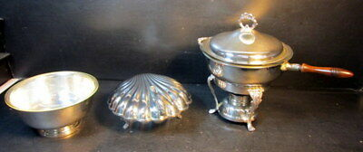 Lot of 3 Silver Serving Dishes
