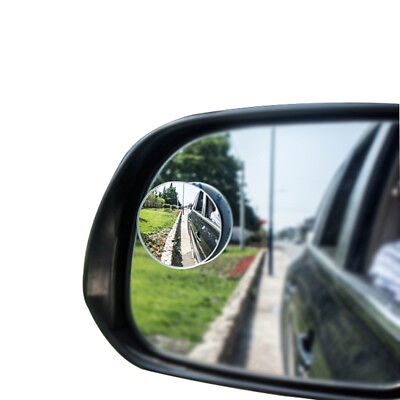 2 Pack 360 Degree Blind Spot Mirror Wide Round HD Glass Convex Rear View Mirror