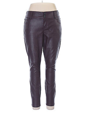 TORRID Burgundy/Dark Red Premium Faux Leather Pants Sz 14 NWT AGF