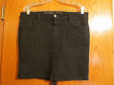 "Lip Service Black ""Kill City"" Short Jean Corset Skirt Sz 7 AGF NWOT"