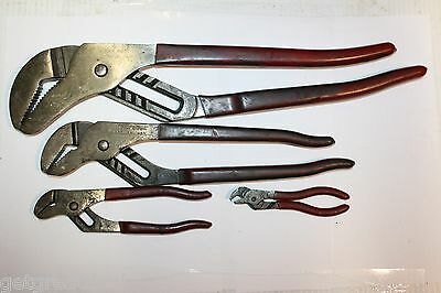 BLUE-POINT TOOLS 4-PIECE ADJUSTABLE CHANNEL LOCK Groove Joint Pliers SET USA