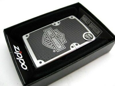 ZIPPO Full Size Satin Chrome HARLEY-DAVIDSON Windproof Lighter! 24025