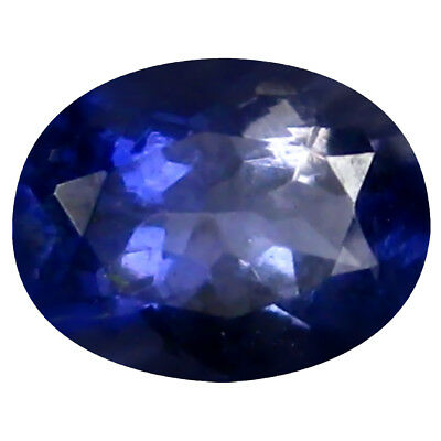 0.67 ct AAA Outstanding Oval Shape (7 x 5 mm) Blue Iolite Natural Gemstone