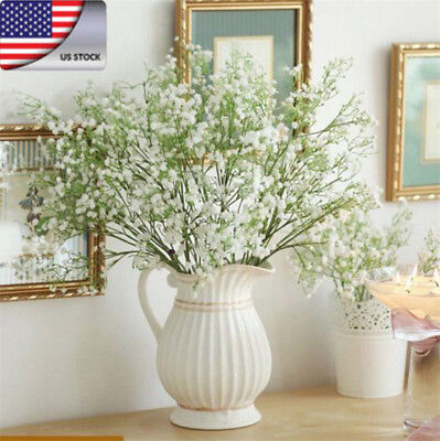 US Romantic Baby's Breath Gypsophila Silk Flower Party Wedding Home Decor NEW