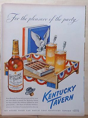 1948 magazine ad for Kentucky Tavern Whiskey, Election ad, Political party theme