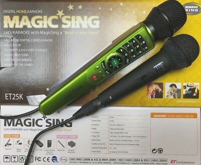 MAGIC SING ET25K karaoke 2300 Tagalog English Songs FREE DUET MIC  BAG, BINDER