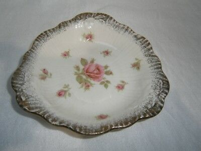 Vintage Crown Ducal England Shabby Pink Rose Jam / Butter / Pin Dish  Chic