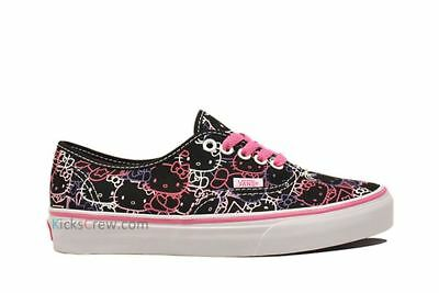 Vans Hello Kitty Authentic Black Pink Purple White Girl s Shoes VN-0OKO66Y bf85c4b6a