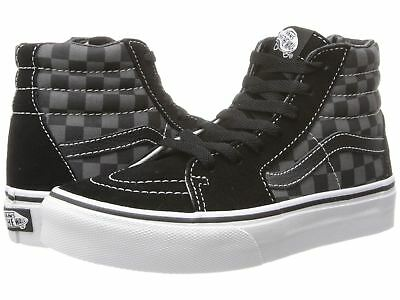 Vans Sk8 Hi Kids Size Checkerboard Black Pewter Skate Shoes VN000D5FEO0 d53da83be