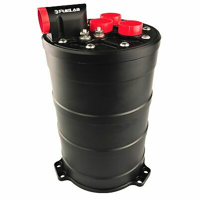 Fuelab Dual 340 LPH E85 Pump Fuel Surge Tank System - 290mm Tall - Motorsport