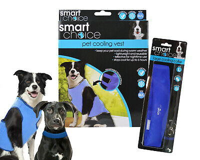 Large Dog Cooling Vest and Collar Set Cool Down Summer Anti Heat Stress Kit