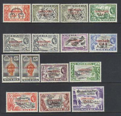 Cameroons Trust Territory 1960-1961 Defins Mh Set Of 12 Cat £38+