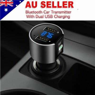 Wireless Bluetooth Car FM Transmitter Kit Hands-free Double USB Radio MP3 Player
