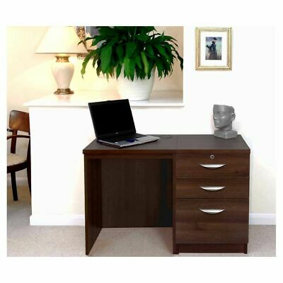 R White Home Office Desk Set with Drawers