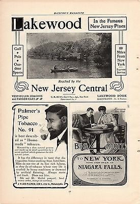 1905 New Jersey Central Railroad Ad-Lakewood