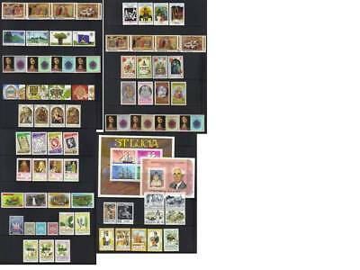 (359) St Lucia Mh Collection Incl Sets & Ms