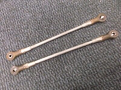 go kart historic/classic 100cc pair of track rods and ends at 300mm