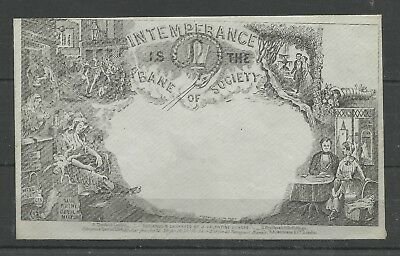 1850ish Valentines Intemperance is the Bane of Society Envelope very fine unused
