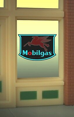 Mobilegas MILLER ENGINEERING Animated Window Sign O/HO Scale #9025