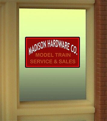 Miller's Madison Hardware Animated Neon Window Sign #8920 O27 HO scale