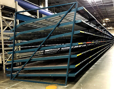 """25 Bays Carton Flow 94""""W x 96""""D With 6 Shelves - See Details"""