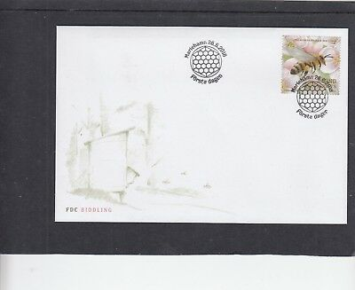 Aland 2018 Bees First Day Cover FDC Mariehamn pictorial h/s