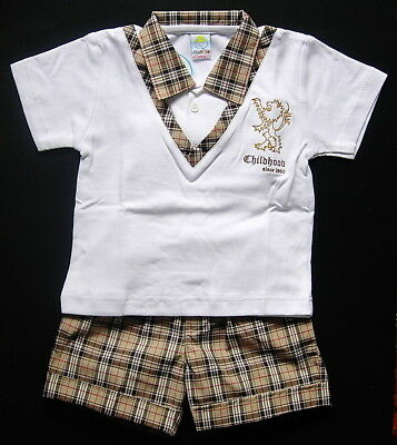 BABY BOY OUTFIT Designer Outfit Top & Shorts Soft Cotton Formal Casual Clothing