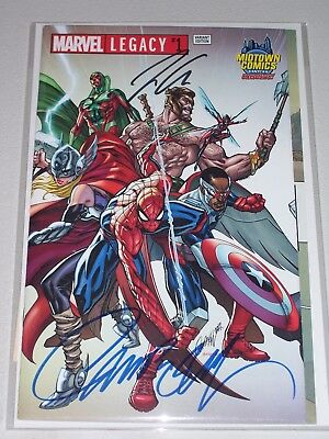 Marvel Legacy #1! (2017) Midtown Variant! Signed by Aaron & Campbell! NM! COA!