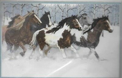 Dimensions CREWEL EMBROIDERY Kit,WILD HORSES IN WINTER, Sealed, MPN 1449,1995