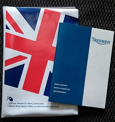 Triumph T509 Speed Triple Owners Hand Book And Cover -  Genuine Triumph Item