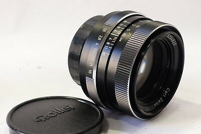 Carl Zeiss Planar 50mm 1:1.8 Lens Rare Germany QBM-II mount for Rolleiflex SL350