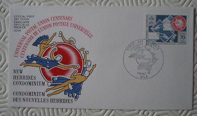 New Hebrides 1st Day Cover  : Centenary Universal Postal Union (1974)