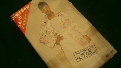 See & Sew by Butterick  skirt jacket sewing pattern #5479  Size B 16-20