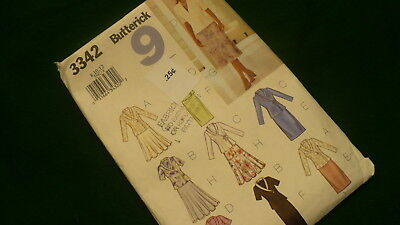 Butterick 9 skirt & top sewing pattern No 3342 Size 8-12