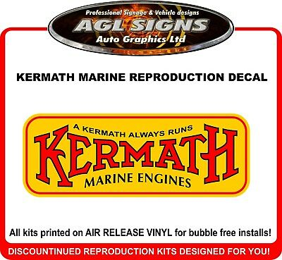 KERMATH MARINE ENGINES  Reproduction Decal
