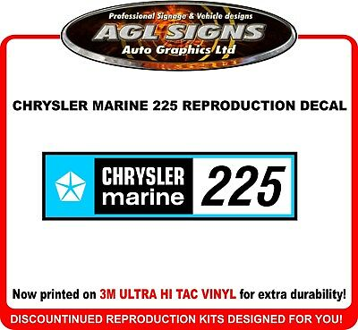 Chrysler Marine 225 Hp Decal Kit