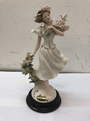 "Giuseppe Armani Spring Time Sculpture 10"" Figurine Florence Italy"