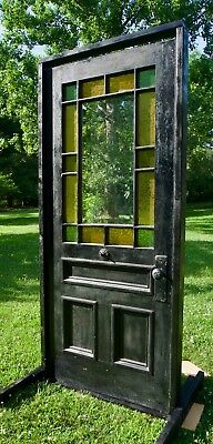 Victorian Antique Stained Glass Entry Door 1800s  Architectural Salvage