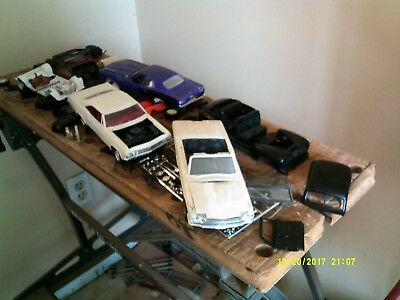 Plastic Model Car Large Lot of parts