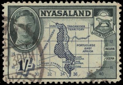 "NYASALAND 76 (SG152) - King George VI ""Colonial Map"" (pa32210)"