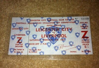 Rare 1968-69 Postponed Leicester City V Liverpool Fa Cup 5Th Rnd Match Ticket