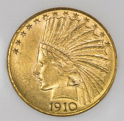 1910 D NGC MS60 $10 Indian Gold Eagle Item#T9288