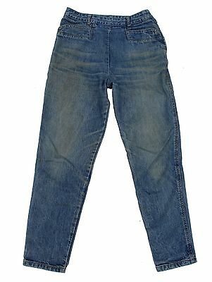 Vintage GUESS Georges Marciano High Rise Side Zip Triangle Denim Jean Sz 30 USA