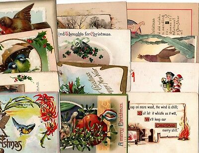 forty more different early 20th century xmas postcards