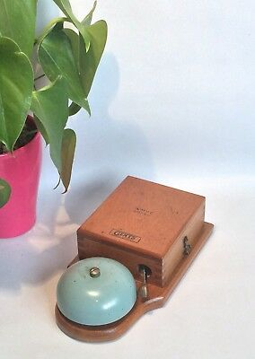 Lovely Vintage Gents Wooden Cased Electric Bell Telephone Retro Alarm Butler